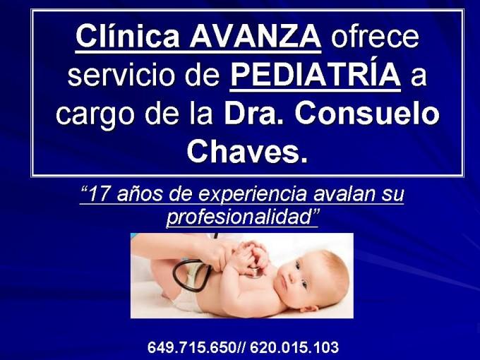 Clínica AVANZA ofrece servicio de PEDIATRÍA a cargo